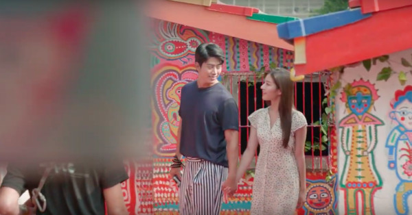 ▲▼  2PM玉澤演此趟訪台與女演員合作宣傳影片拍攝。(圖/觀公局影片)