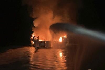 加州外海火燒船沉4死5獲救!30人還在船艙底層