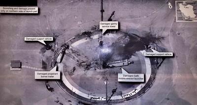 川普秀伊朗衛星發射爆炸照 竟意外洩密