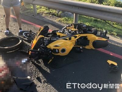 濱海公路賓士撞重機 19歲男大生吐血命危