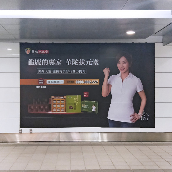 台北小巨蛋站大型壁貼