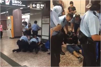 即/港鐵太子站衝突升級 1年輕男子昏迷