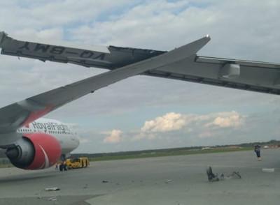 俄航飛北京航班在莫斯科機場撞機