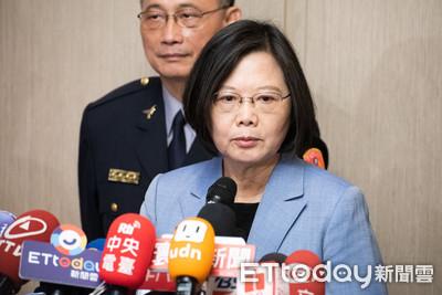 快訊/蔡英文:非常支持港人追求民主自由