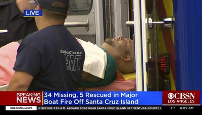 加州火燒船34死 FBI加入調查