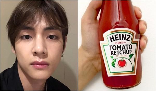 ▲V在影片裡提到番茄醬,竟引來品牌「Heinz Ketchup」回應。(圖/翻攝推特/@BTS_twt、@HeinzKetchup_US)