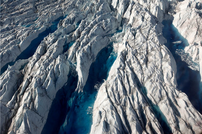 7隻狗拉雪橇跑水上 格陵蘭冰川被判死刑