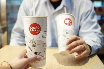 大杯冰拿鐵第2杯10元!85˚C限定一天只有7小時快搶喝