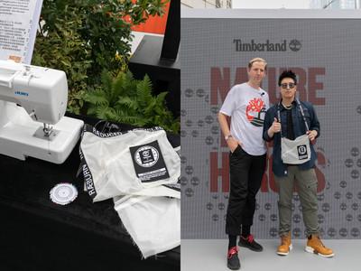 潘瑋柏與設計師Raeburn做環保袋