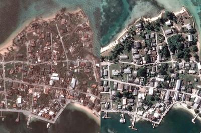 衛星照曝光 多利安毀滅強襲巴哈馬