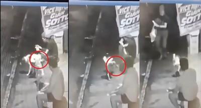 菲國少年腳邊有暖流 2狗輪尿尿