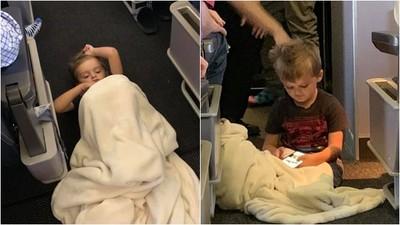 自閉症男童飛機上「失控躺地哭鬧」 空姐暖心幫蓋毯、餐車刻意繞道