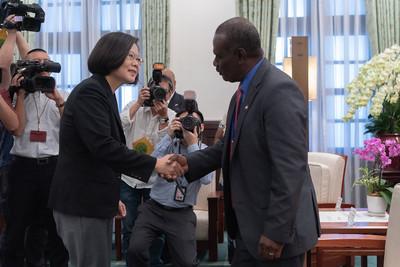 蔡英文見索國外長:台灣是國際肯奉獻的夥伴