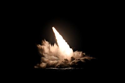 美潛艦3天內試射4枚三叉戟II飛彈