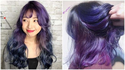 回頭率1000%!冷調特殊髮色「美人魚藍紫色」 散發寶石般的光澤