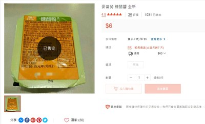 自稱員工上網轉賣糖醋醬 麥當勞喊告
