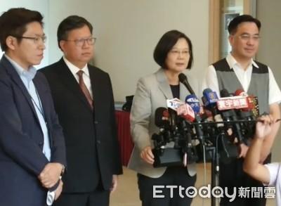 韓稱用香港補血?蔡英文:只有藍營當選舉議題