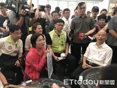 故意亂入DPP陳抗 韓:我沒躲藏