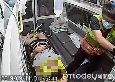 酒後騎車載友卻撞分隔島雙雙受傷