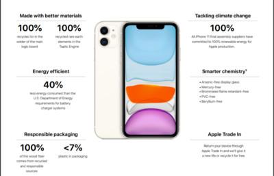 蘋果拼環保 iPhone 11組裝100%採綠能