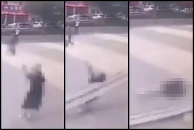 25歲女路過商場「慘遭鐵架砸死」
