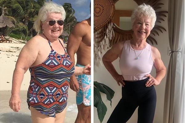 73歲嬤健身練出超狂身材!2年甩27公斤「我不完美但我很努力」