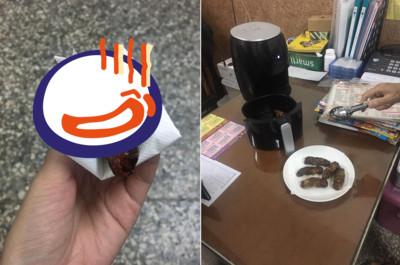 老闆娘試用氣炸鍋!蝦捲出爐「顏色超母湯」