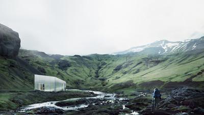 極簡格調 雲霧般輕盈的山中小屋