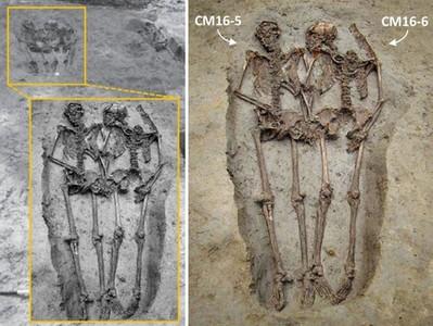 義大利墓穴發現「2男手牽手」合葬