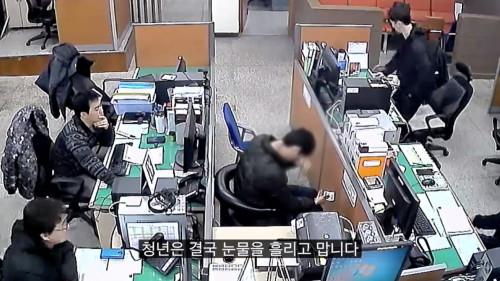 ▲▼竊盜青年受警察幫助(圖/翻攝自부산경찰)