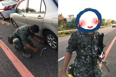 「國軍吳京」護送爆胎車 2.7萬人戀愛