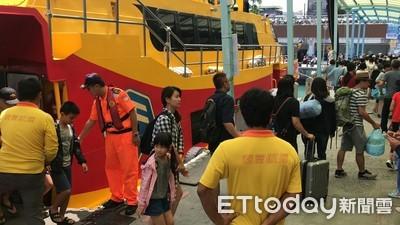 東琉線交通船爆人潮 海巡加強服務