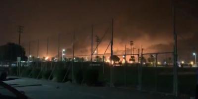 無人機襲擊沙烏地 全球最大石油廠陷火海