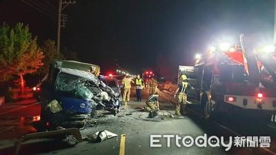 即/台南3車連環撞 1死2傷