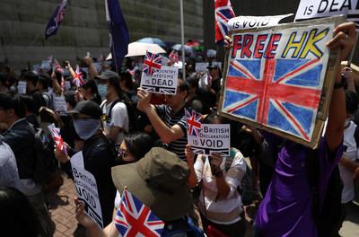 千人到英國領事館請願!發起人要飛倫敦找議員
