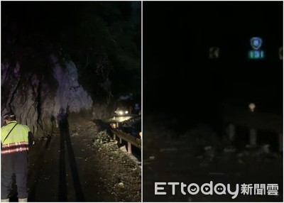 花蓮中橫台8線落石砸車 今晚雙向封閉