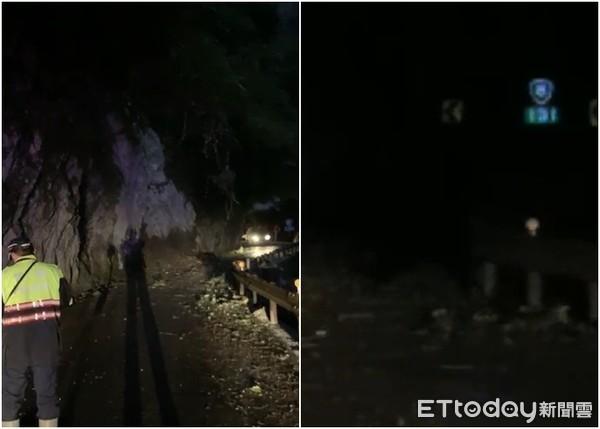 花蓮中橫台8線落石砸中1車「落石不斷」 警:今晚「雙向封閉」