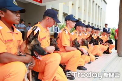 海巡偵搜犬成軍! 15萌犬守護邊境