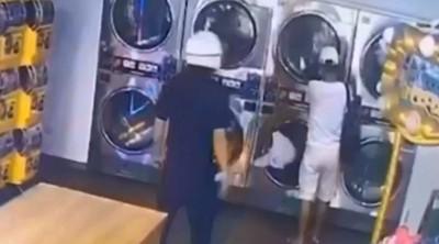 慣竊鬼祟撬洗衣機台 警察站後面...網喊療癒