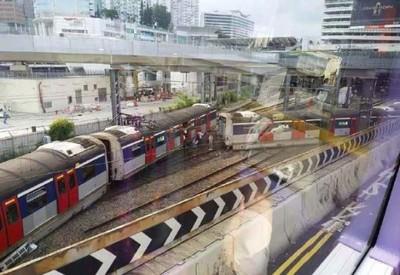 港鐵紅磡站「列車突出軌」乘客嚇壞