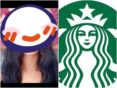 子瑜新造型曝光!99%撞臉星巴克logo