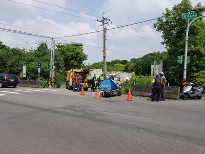 台中女騎士遭垃圾車爆頭 當場身亡