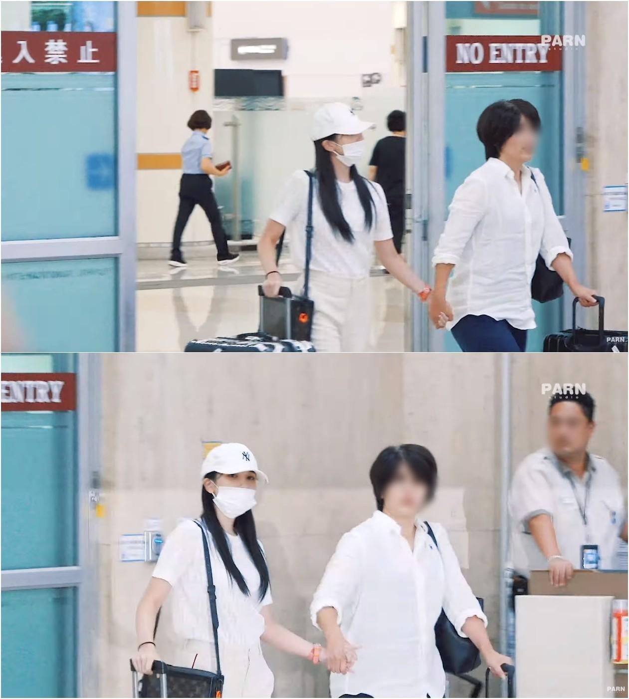 ▲Mina於17日回到南韓。(圖/翻攝自studio PARN YouTube)