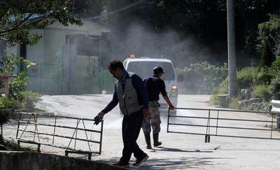 南韓動員直升機消毒非軍事區7天