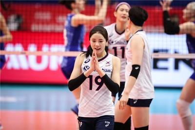 韓國女排甜心李多英世排賽受注目