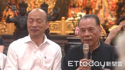 韓國瑜左營拜天公廟遇民眾嗆下台