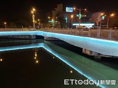 台南運河沿線11座橋梁光雕綻放浪漫
