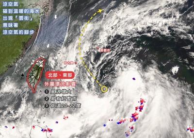 塔巴最快今生成!台灣北方現涼空氣「雲街」