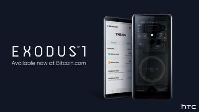 HTC攜手Bitcoin.com EXODUS系列將原生支援「比特幣現金」
