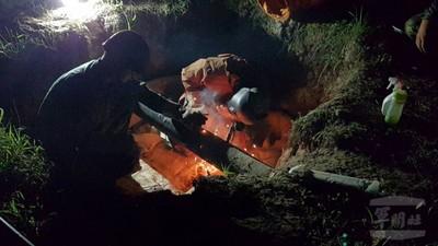 陸軍三支部夜間油管修復